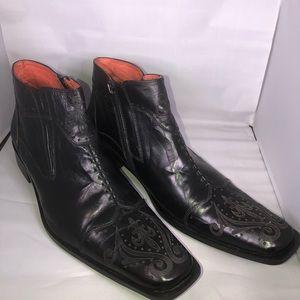 Robert Wayne | Durango Black Leather Ankle Boot 12